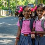 Schulmädchen Kottayam_Indien