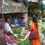 Straßenhändler in Kottayam